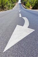 longa estrada com flecha