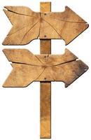 placa direcional de madeira - duas setas