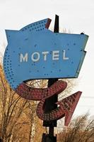 placa de motel antigo