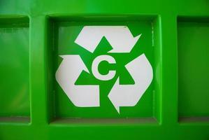 símbolo de reciclagem foto
