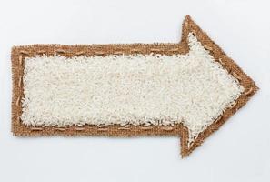 ponteiro com grãos de arroz foto