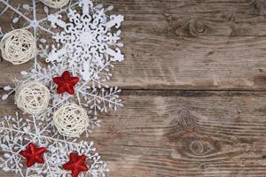 borda de flocos de neve e decoração de natal
