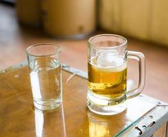 água ou cerveja