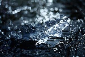 fundo desfocado água gelada