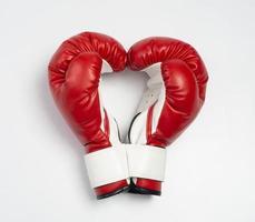 Luvas de boxe no coração