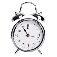 onze horas em um despertador foto