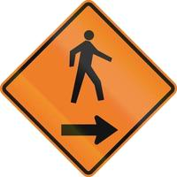 pedestres à direita no Canadá