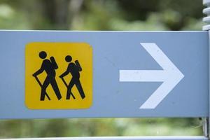 sinal de trekking foto