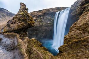 icônico outono skagafoss, islândia foto