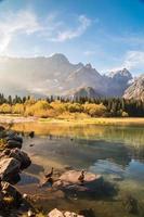 manhã de outono nos Alpes