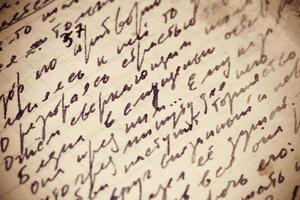 textura escrita à mão
