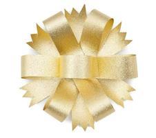 laço de fita de ouro