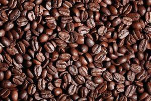 textura de grãos de café arábica foto