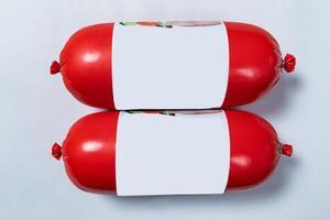 salame salame em vermelho, pronto para venda