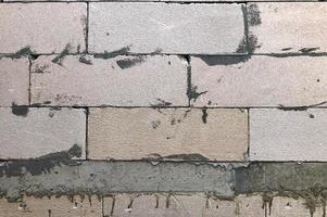 parede de tijolos com textura de fundo foto