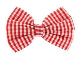 gravata borboleta xadrez branco vermelho