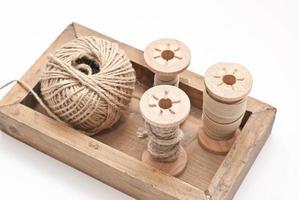 carretel de madeira foto