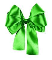 laço verde feito de fita de seda