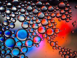 bolas / bolhas vermelhas, azuis e brancas