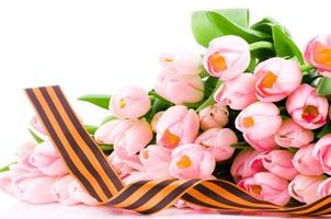 fita george e tulipas cor de rosa