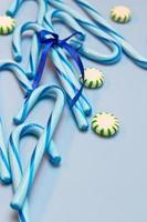 bastões de doce azul