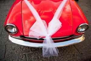 carro decorado para um casamento