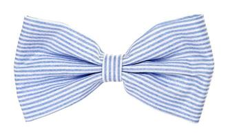 gravata borboleta azul com listras