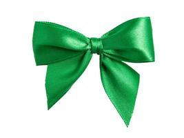 arco festivo verde feito de fita