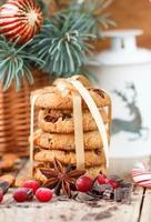 biscoitos com cranberries. presentes de Natal. o estilo rústico
