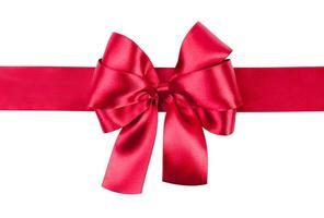 foto de laço vermelho feita de seda