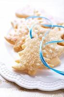biscoitos de natal gelados com açúcar