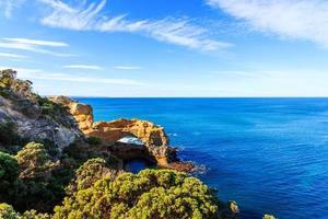 paisagem marinha, paisagem e linha do horizonte da grande estrada oceânica, austrália