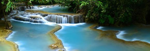 cachoeira kuang si, luang prabang, laos