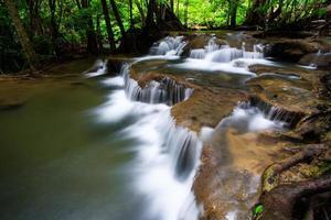 degraus da cachoeira