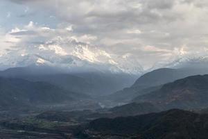 Annapurna se escondendo ao sul