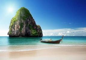 praia na província de Krabi, Tailândia
