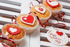 muffins de dia dos namorados foto