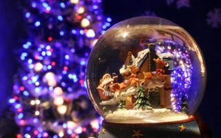 globo de neve santa foto