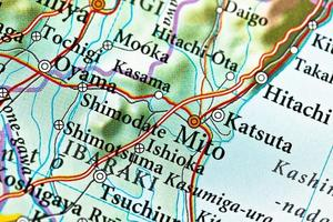 mapa mito, japão foto