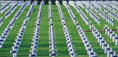 cemitério de soldados franceses da 1ª guerra mundial em targette foto