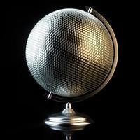 imagem conceitual de bola de discoteca em vista do globo foto
