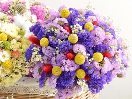 lindas flores secas foto