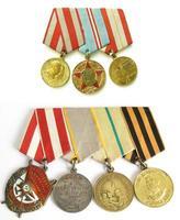 sete medalhas da ii guerra mundial foto