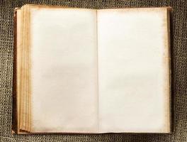 livro vintage em branco