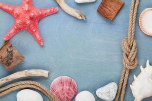 decoração de moldura de viagem marítima foto