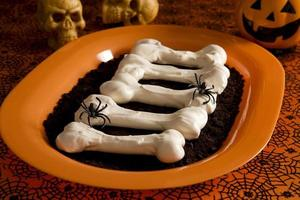 ossos de merengue de halloween foto