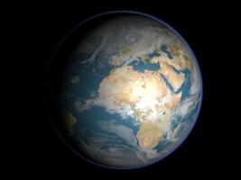 terra do espaço foto