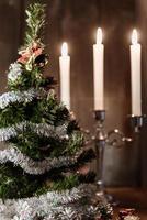 árvore decorativa de natal foto