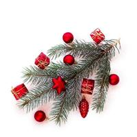 árvore de natal com bugigangas foto