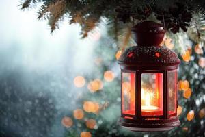 lanterna de natal foto